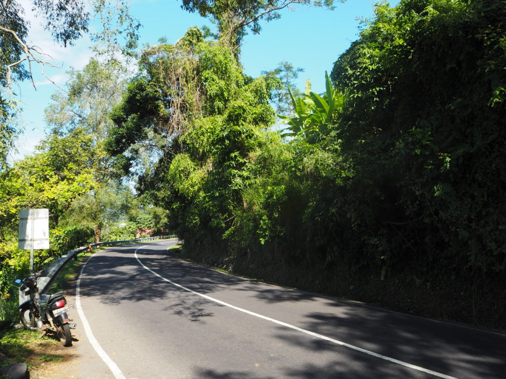 on the road east bali